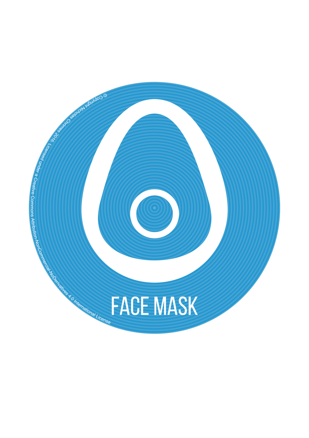 Face Mask Icon - with text (Right click to download)