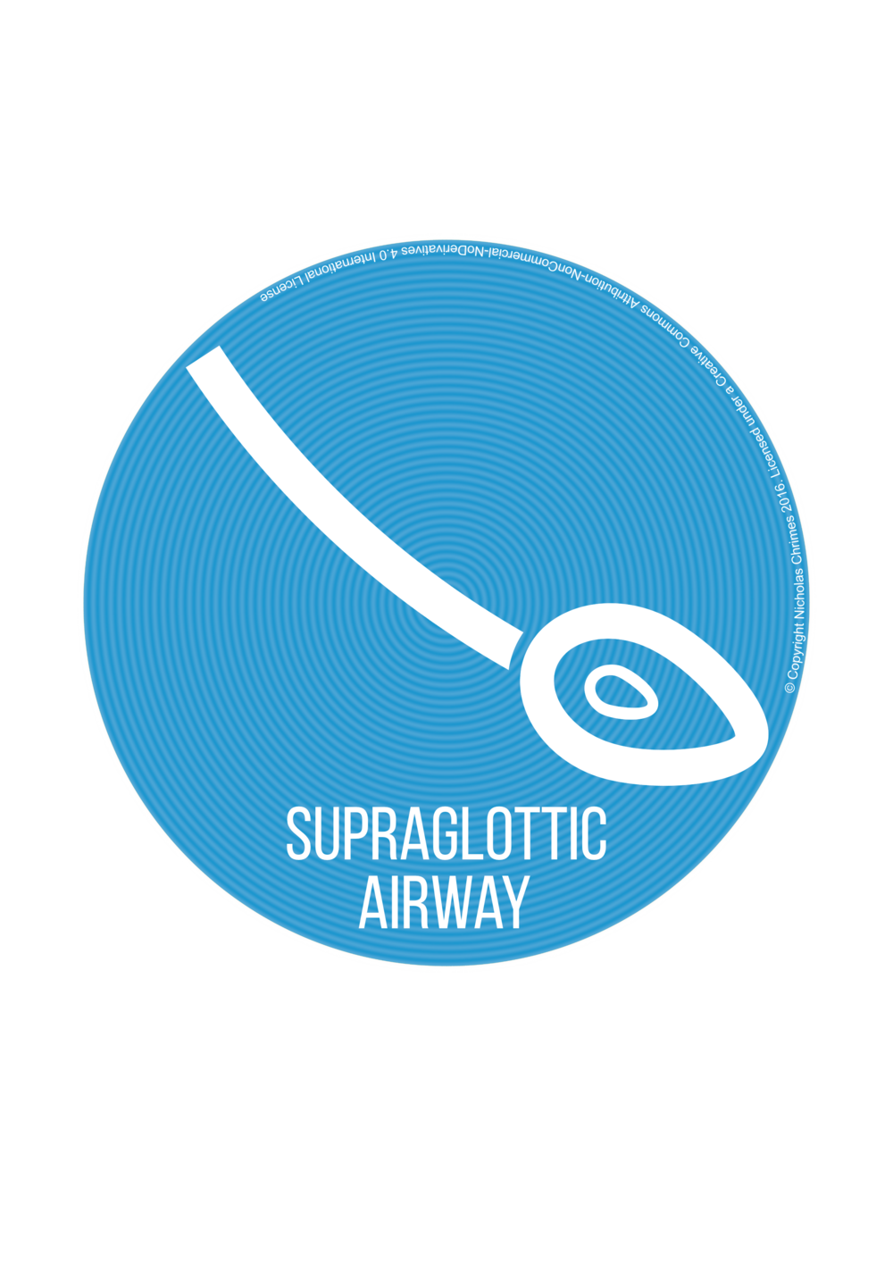 Supraglottic Airway Icon - with text (Right click to download)