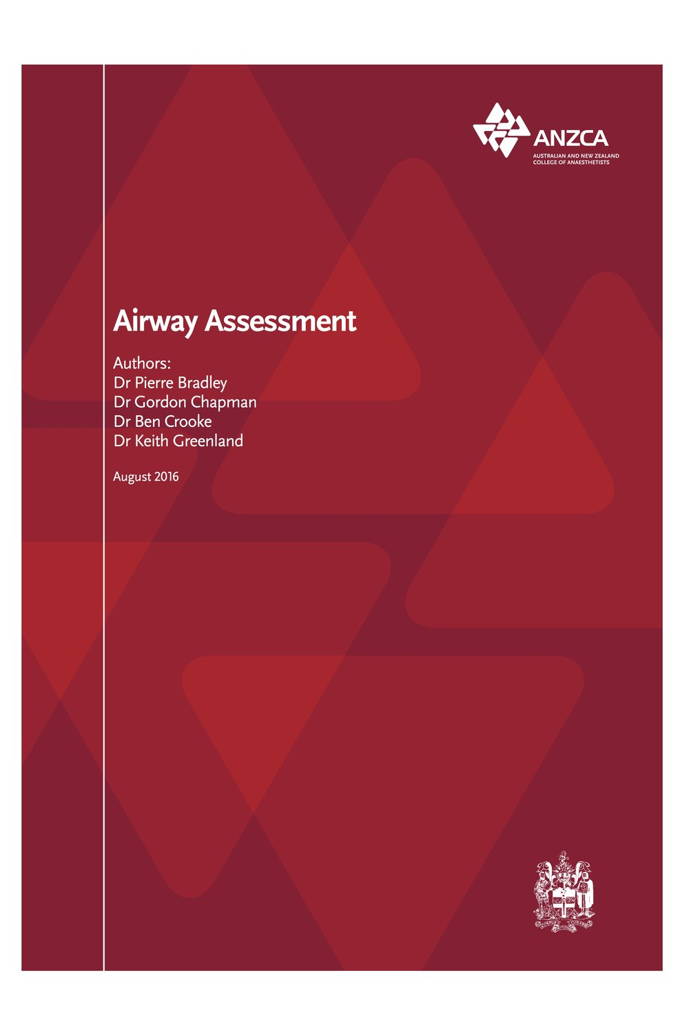 Australian & New Zealand College of Anaesthetists Airway Assessment Document