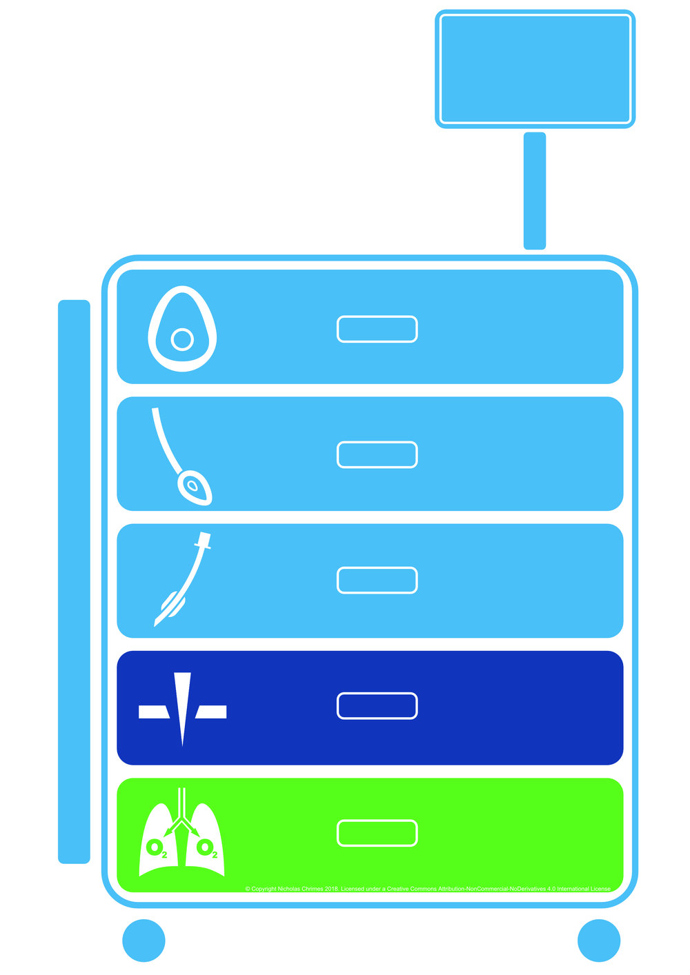 Airway Cart Icon. No text.