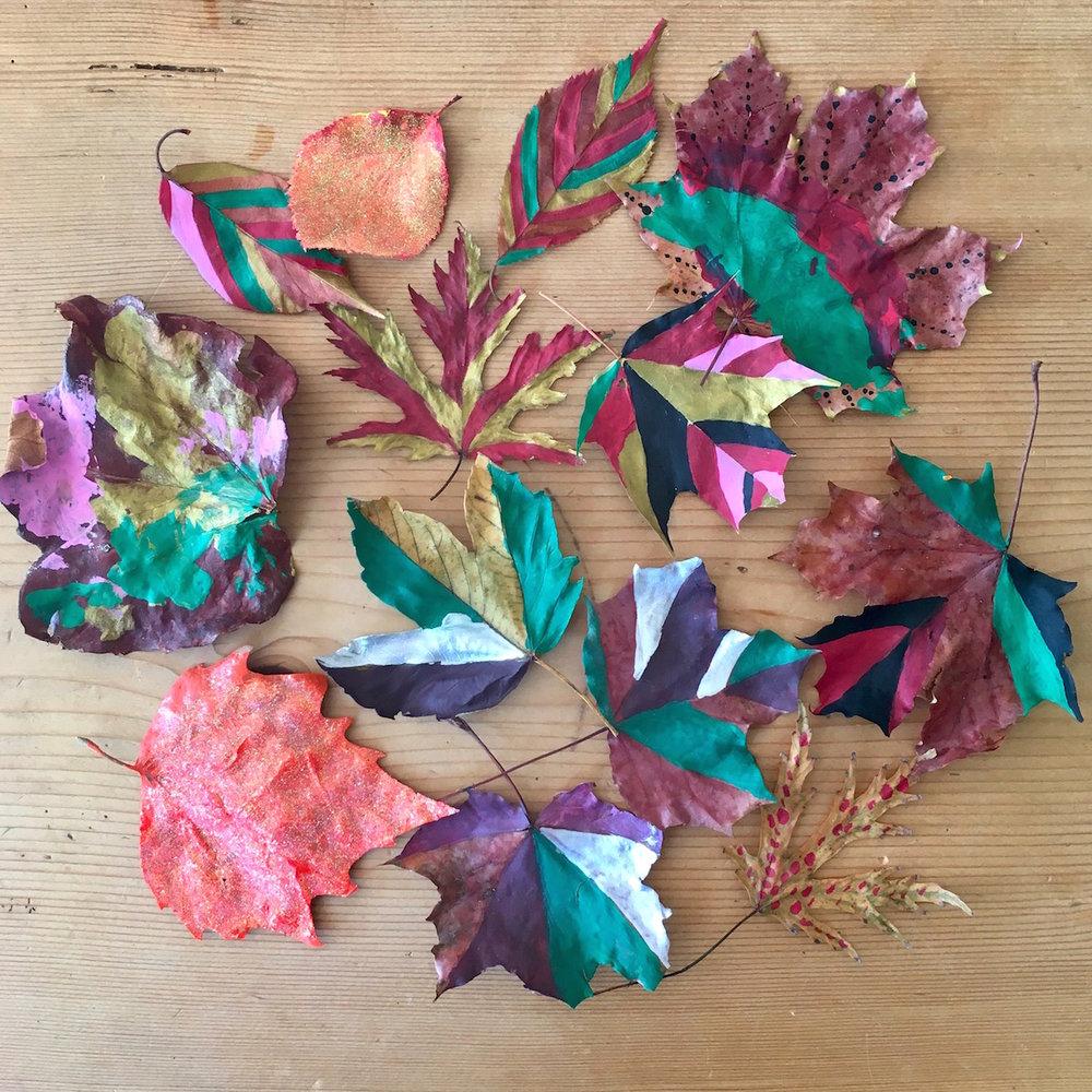 Getrocknete Herbstblätter Verzaubern Hoi Berlin Unterwegs Mit