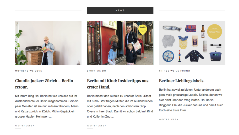 Tadah - 3 Fliegen auf einen Schlag.Interview. Berlin-Guide. Editors Picks.