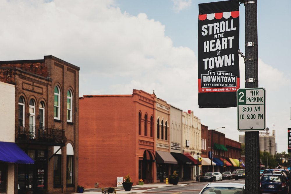 downtown mooresville sign