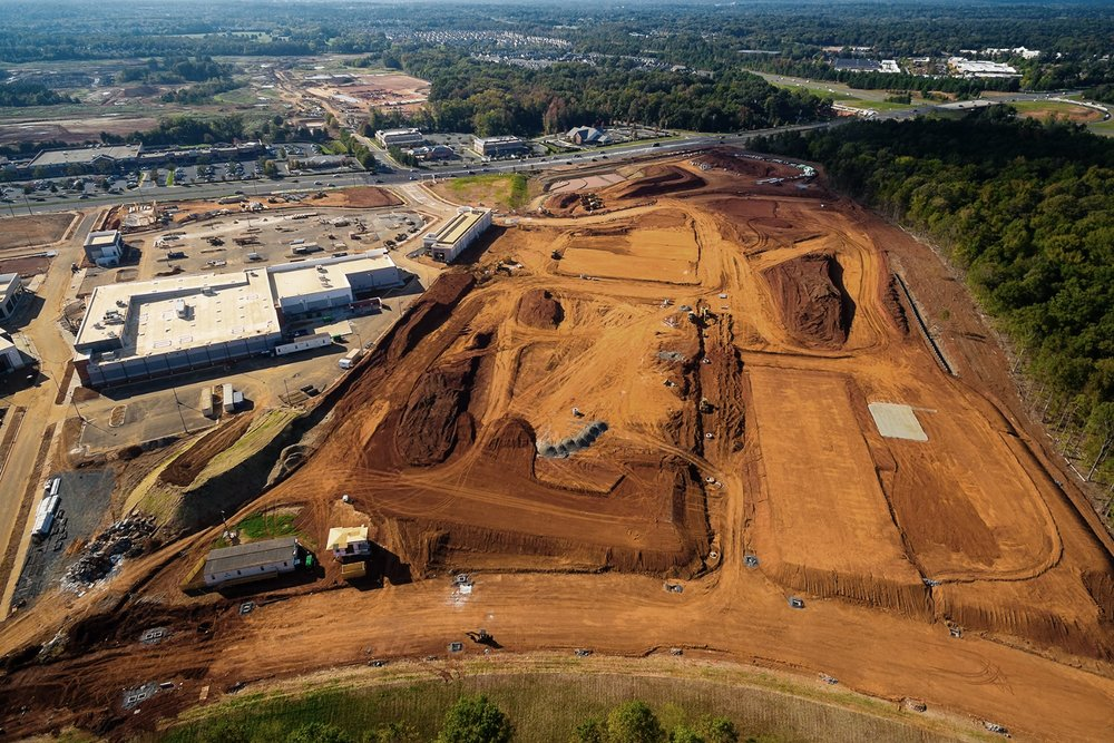 part of the    waverly    site to the left of crescent providence farm. harris teeter and the soon to be developed    rea     farms  is directly across the street