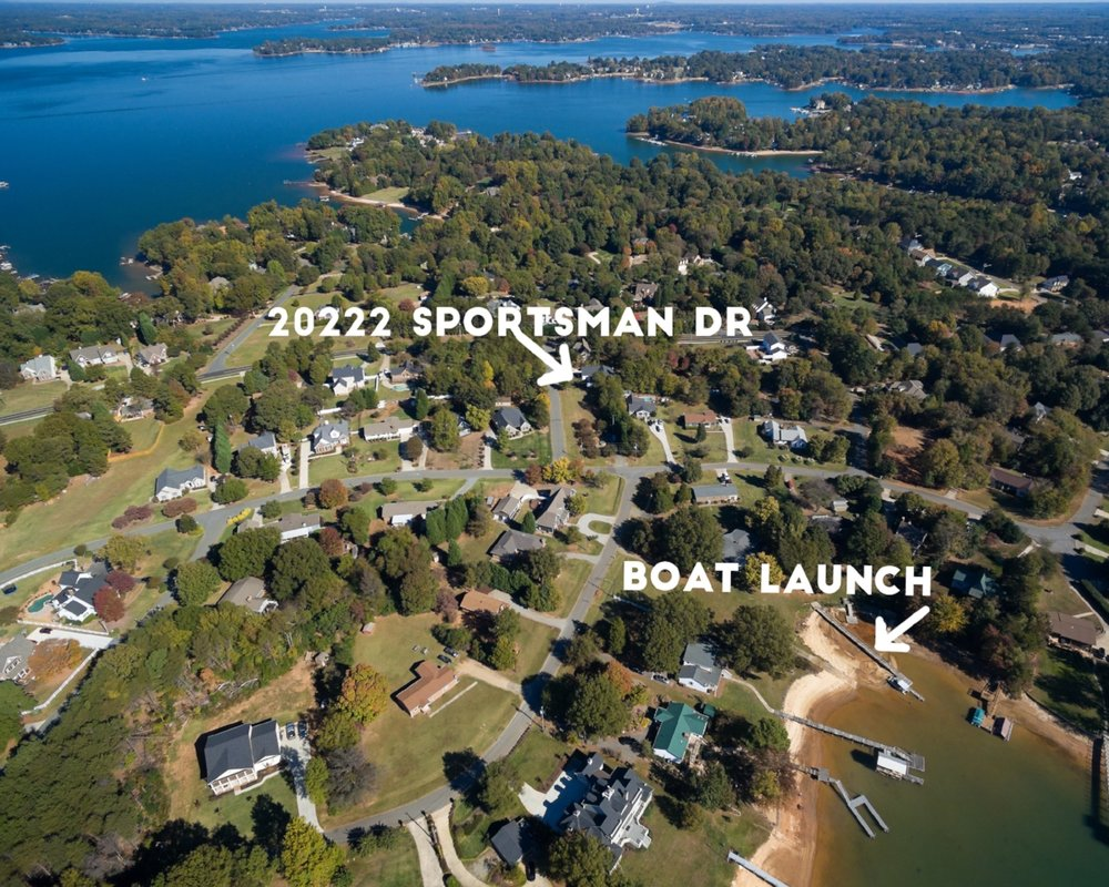"Aerial views help give a sense of ""place"", allowing your potential buyers to see how close they are to amenities, in this case, a boat launch."