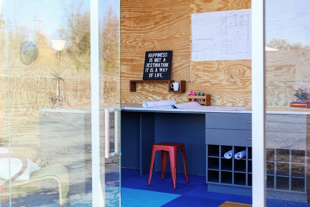 Photos Of A Tiny Office Studio In Charlotte, NC.