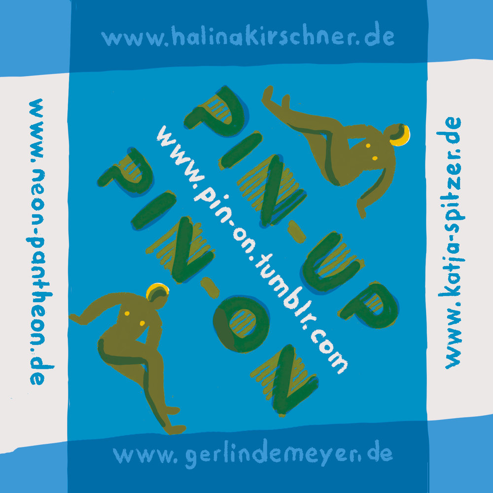 A sticker. Advertisement für our pin-up-girls-project.