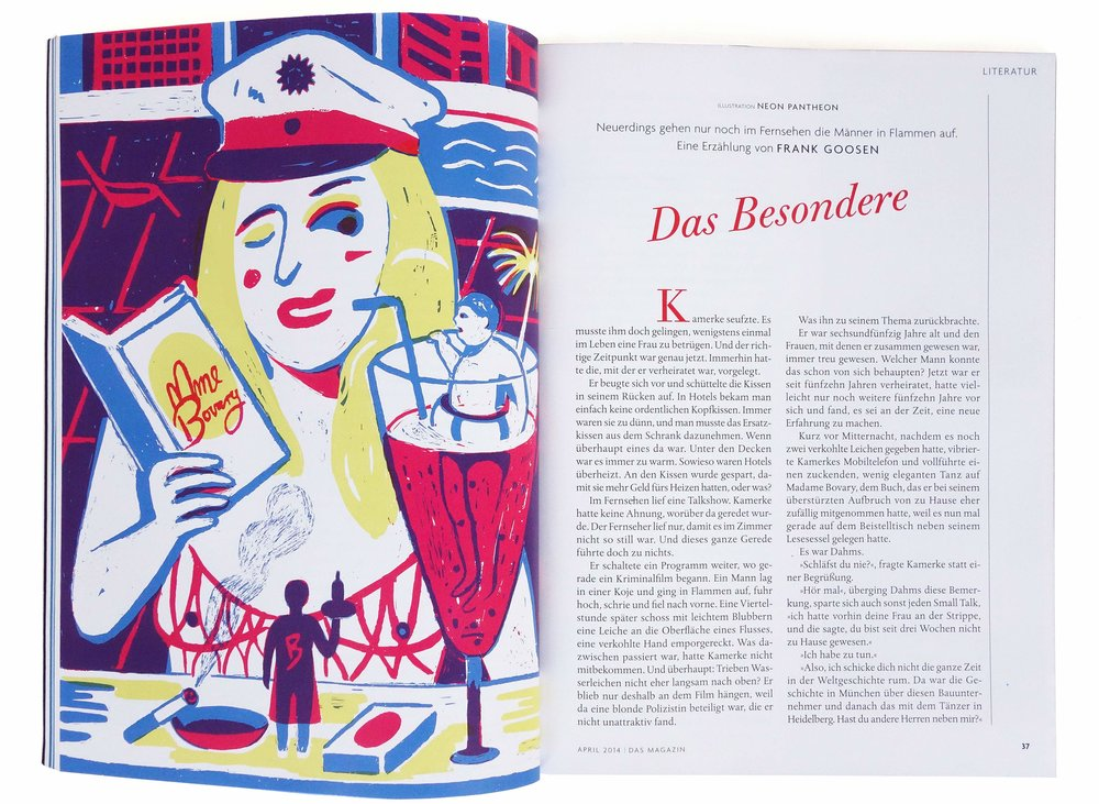 An illustration for  das Magazin