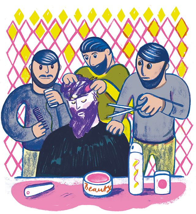 Just sent my brand-new illustrations to the magazine. I made pictures for a story about someone who can't stop falling  asleep in a styling chair. He shares the same preference for #turkishhairdresser like me. #editorialillustrations #dasmagazin #magazinillustration #illustrationoftheday #newhaircuts #hairstylings #illustrationoninstagram #nadineprange #neonpantheon