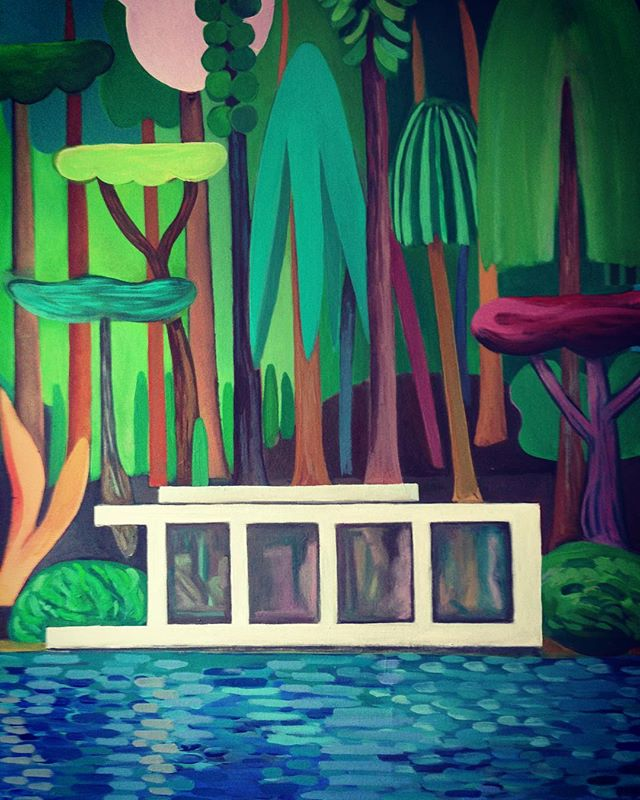 Wouldn't mind to stroll around these trees someday...:-)Well, the painting is almost finished. Picturing it brings to mind how difficult and far from reality a reproduction actually is. Especially the sizing of course 🤔that's why I prefer a #picturedetail ... #oiloncanvaspainting #moretrees #wip #landscapepainting #nadineprange #neonpantheon #findingcolours