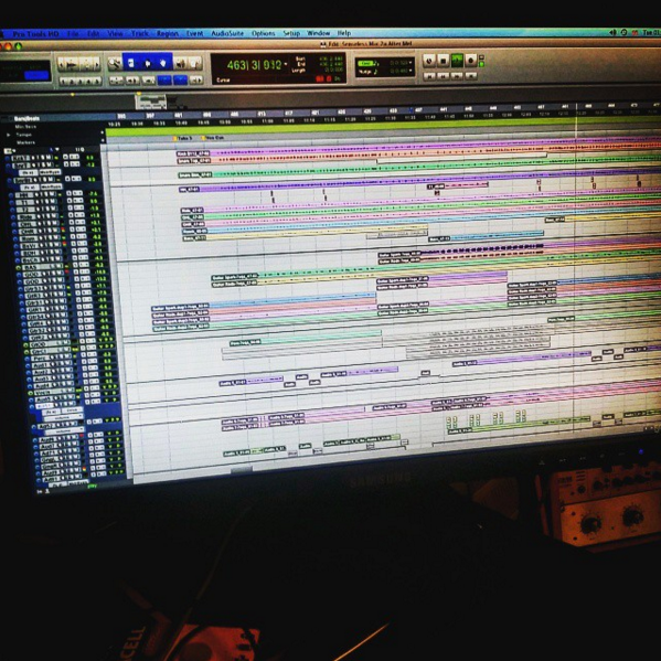 One of our more complex mix sessions