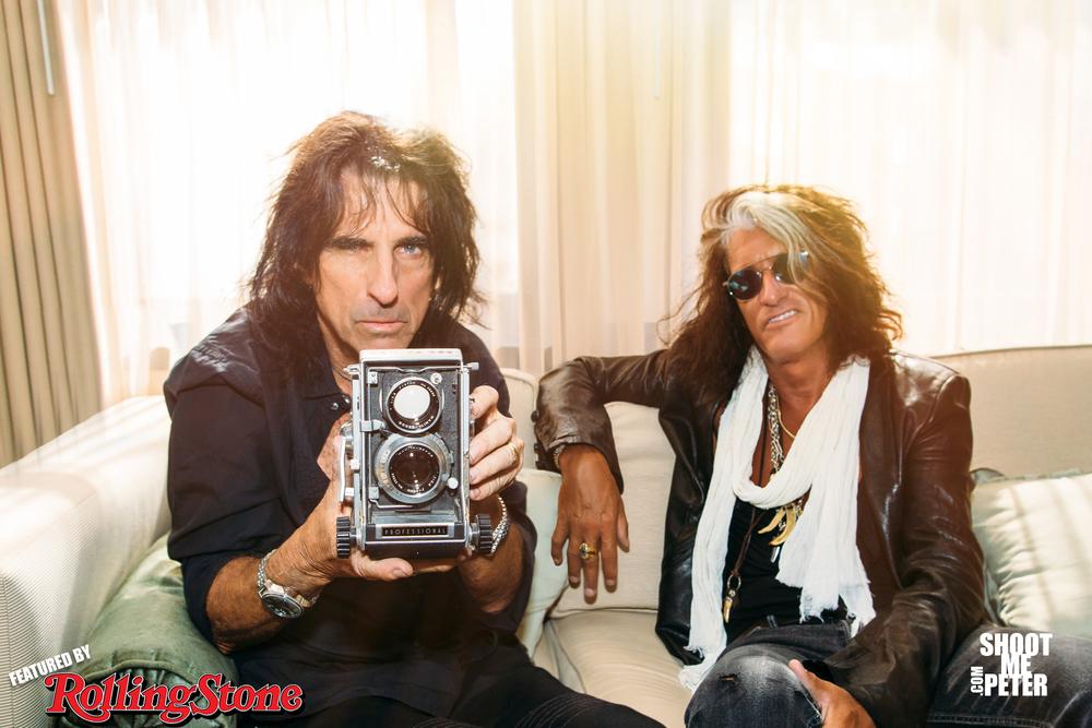 Alice Cooper & Joe Perry of Aerosmith