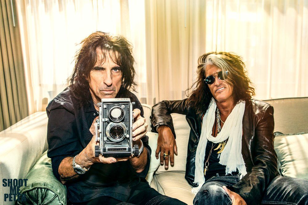 Alice Cooper & Joe Perry - ROLLING STONE MAG