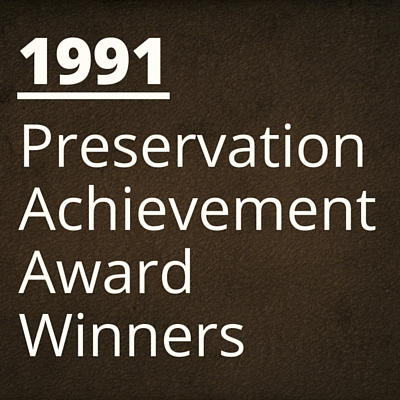 1991 NH Preservation Alliance Awards Winners
