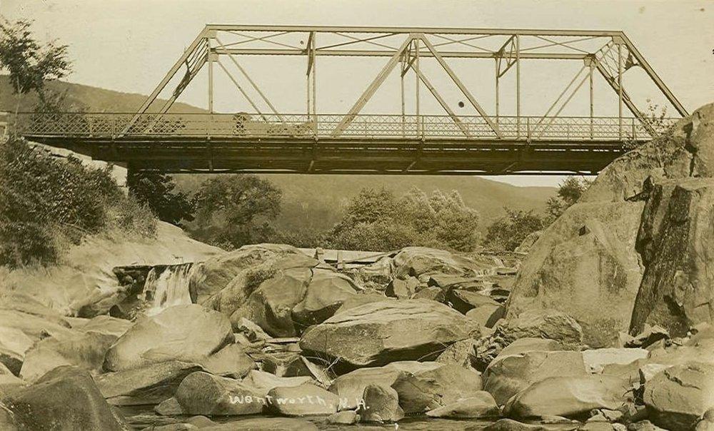 Wentworth's 1909 metal bridge. Courtesty Wentworth Historical Society