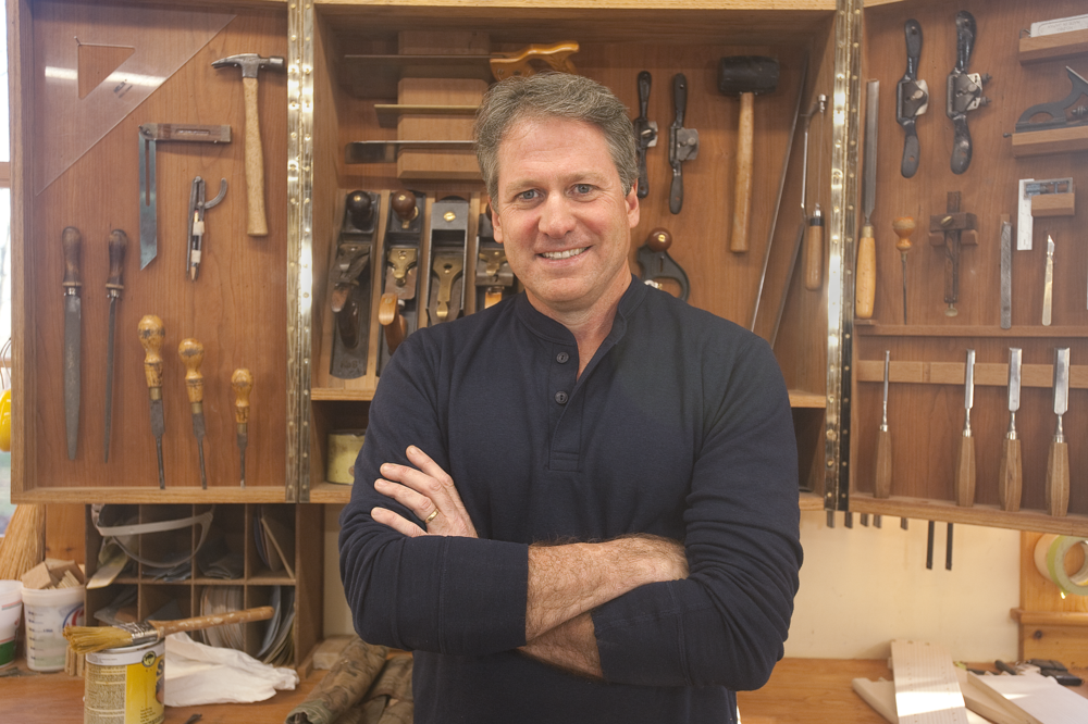 The new season of  Rough Cut with Fine Woodworking  with Tom McLaughlin starts April 7th at 4:30 pm on New Hampshire PBS. Come see him in person at the Expo! Photo: NHPBS