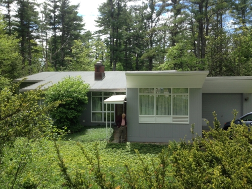 Mid-century modern homes of all sorts will be a topic of conversation at the Expo. This David Campbell designed house in Durham was built in the early 1950s for Mary and Edwin Scheier, famous potters who taught at UNH.  Courtesy: Peter Michaud.