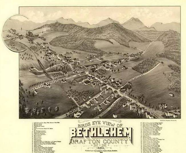 Birds Eye map of Bethlehem