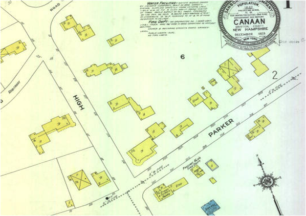 Sanborn map of Canaan, 1924