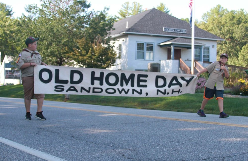 Old Home Days in NH - 2018   Belmont - August 11   http://www.belmontnh.org/belmontoldhomeday.asp      Canaan - August 3-5   http://canaannh.org/oldhomedays/index.html      Franconia - July 7   http://www.franconianh.org/old-home-day.html      Gilford - August 25   http://www.gilfordrec.com/activities?post=38    https://www.facebook.com/Gilford-Old-Home-Day-232361186784715/      Franconia - July 7   http://www.franconianh.org/old-home-day.html      Hollis - September 14-15   http://hollisoldhomedays.org/      Hooksett – September 15   https://hooksettoldhomeday.org/      Hudson - August 9-12   http://hudsonoldhomedays.blogspot.com/      Londonderry – August 15-19   http://oldhomedays.com/      Newbury -  July 14   https://www.newburynh.org/home/news/save-date-july-14-newbury-old-home-day    https://www.facebook.com/Newbury-Old-Home-Day-989331611087660/      Pembroke & Allenstown - August 25 (unconfirmed)   http://www.pembroke-allenstownoldhomeday.com/      Pittsburg - August 18   http://www.pittsburg-nh.com/living-in-pittsburg/events-activities/old-home-day    https://www.facebook.com/Pittsburg-Old-Home-Day-246058805417416/      Rumney - August 11        Sandwich - August 5-12   http://www.sandwichnh.org/departments/parks_and_recreation/departments/2017_old_home_week.php      Stoddard – July 5-8   http://www.stoddardnh.org/home/events/11806