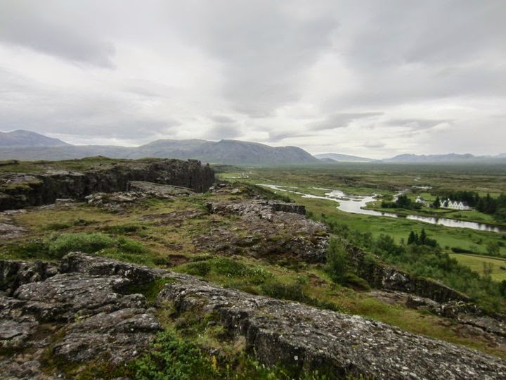 A photo I took in 2011 of the original site of the Viking Parliament in Iceland. The terrain is rough because the European and North American tectonic plates are colliding, causing volcanic activity and hot geysers. It is understandable why the Viking believed this spot to be magical.