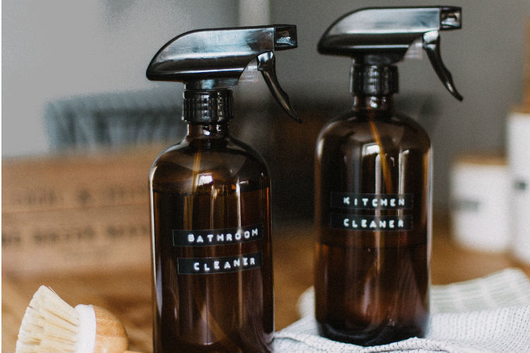 Try buying (or making your own) non-toxic household cleaners.