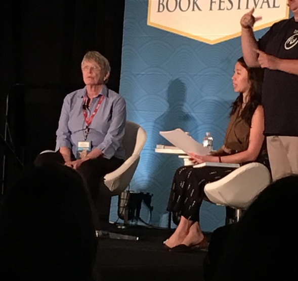 Lois Lowry being interviewed at The National Book Festival on September 24th, 2016.