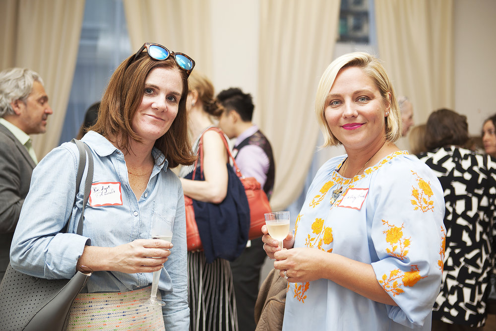 Set decorator Bridget Edwards and Lindsay Burke, an events and floral designer, enjoying the TurriNYC event.