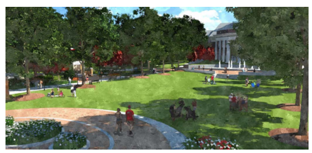 A rendering of the proposed City Green park.
