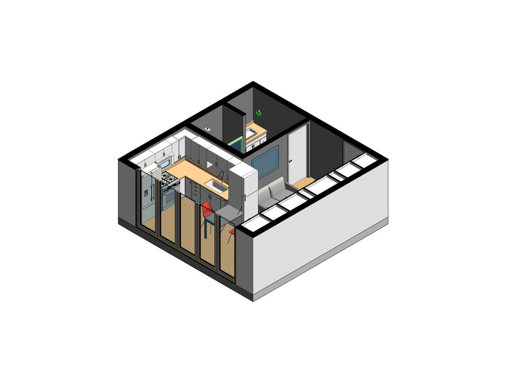 NYC Micro Dwelling SD Unit Isometric Unit