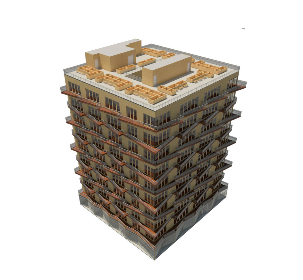 NYC Micro Dwellings Revit Material Test 01