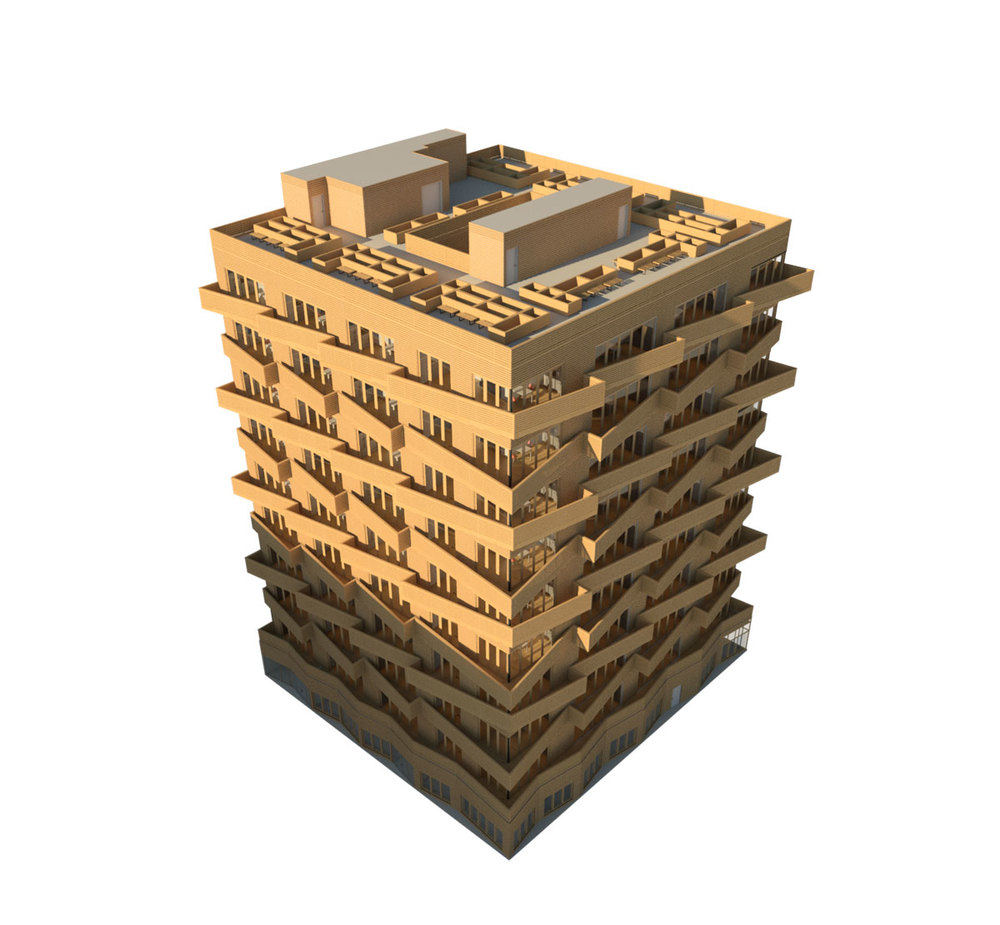 NYC Micro Dwellings Revit Material Test 03