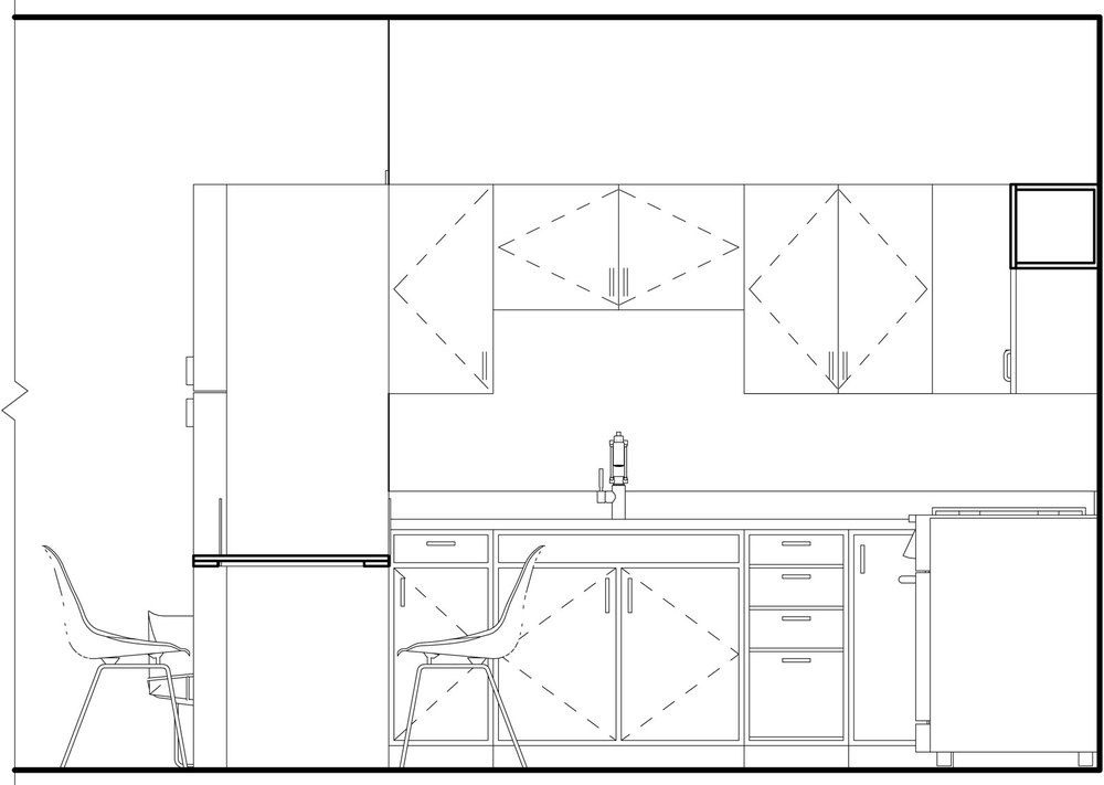 Elevation of Kitchen B
