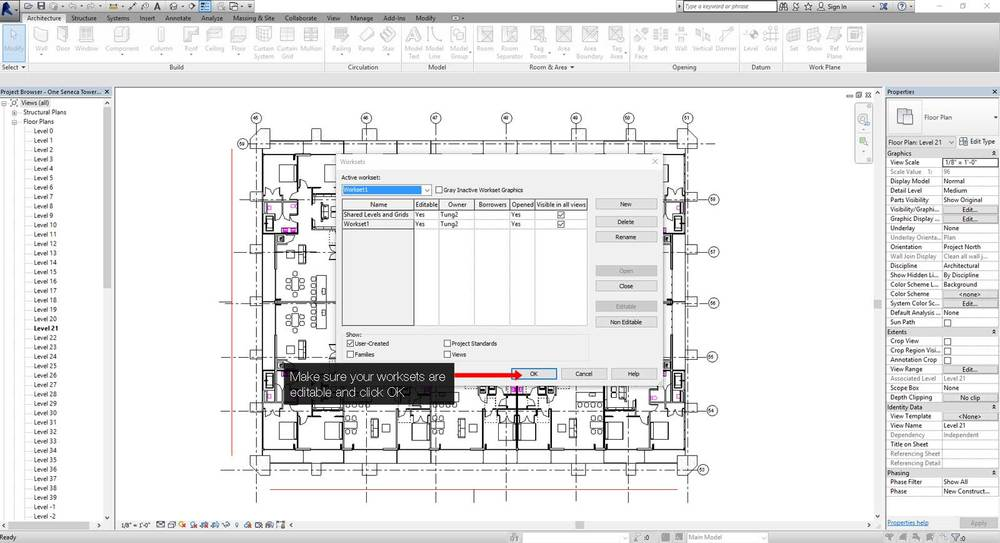 How to create a central Revit file step 02