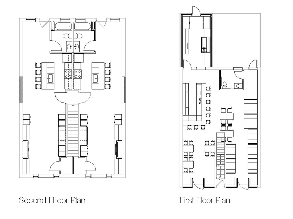 5x30 Restaurant and Apartment Floor Plans
