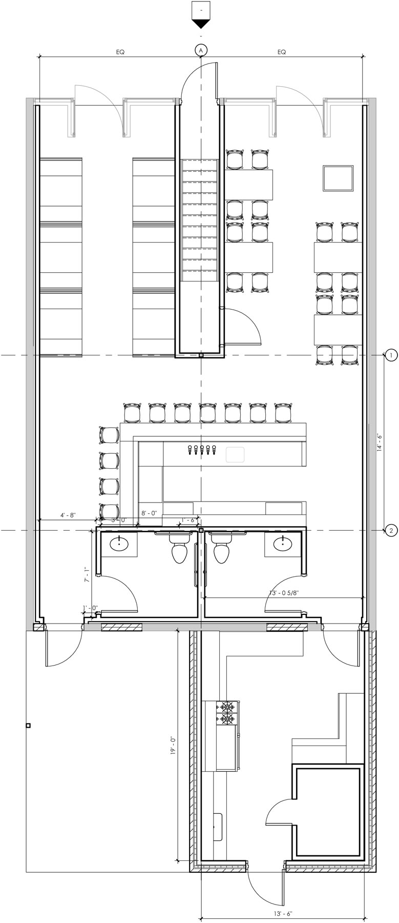 Restaurant - First Floor Plan