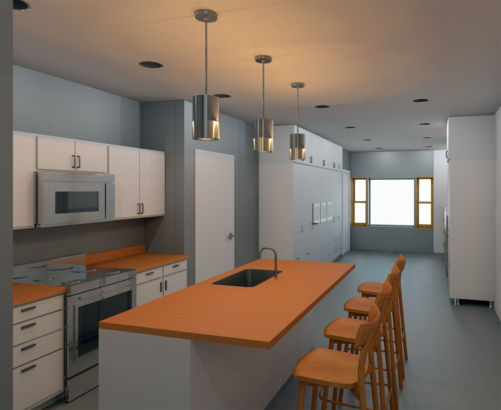 5x30 Restaurant and apartment Draft Render