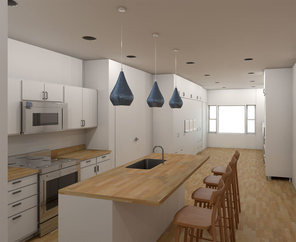 5x30 Restaurant and Apartment Draft Render 2