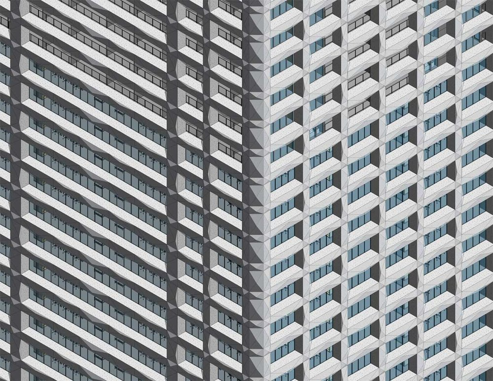 One Seneca Tower Grid Pattern Facade