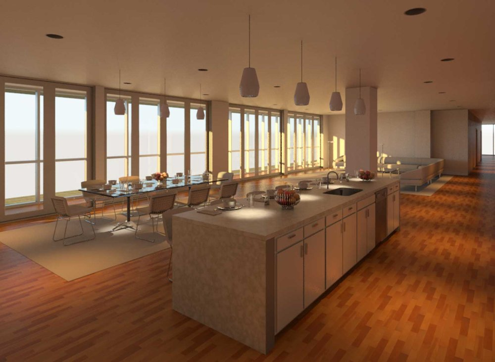 OST Penthouse Living and Kitchen Render 6