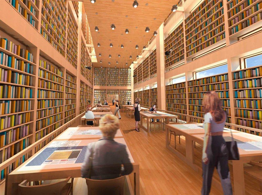 Athenaeum 2050 Open Study Render