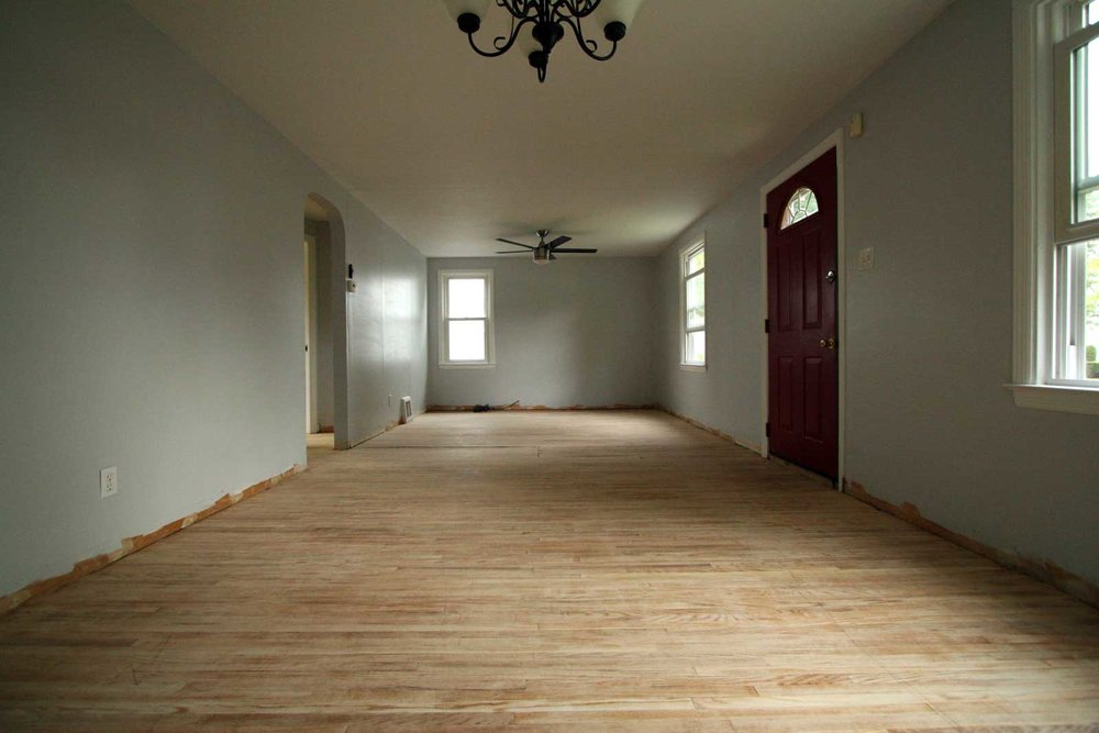 Sanding the floors
