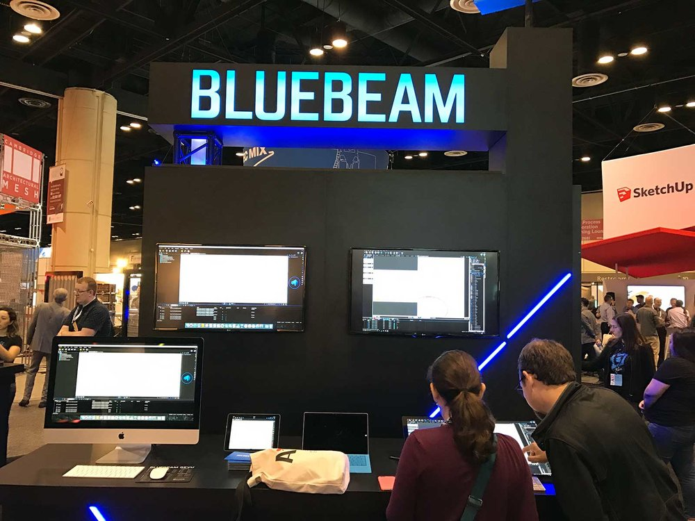 Bluebeam booth at the AIA 2017 Expo
