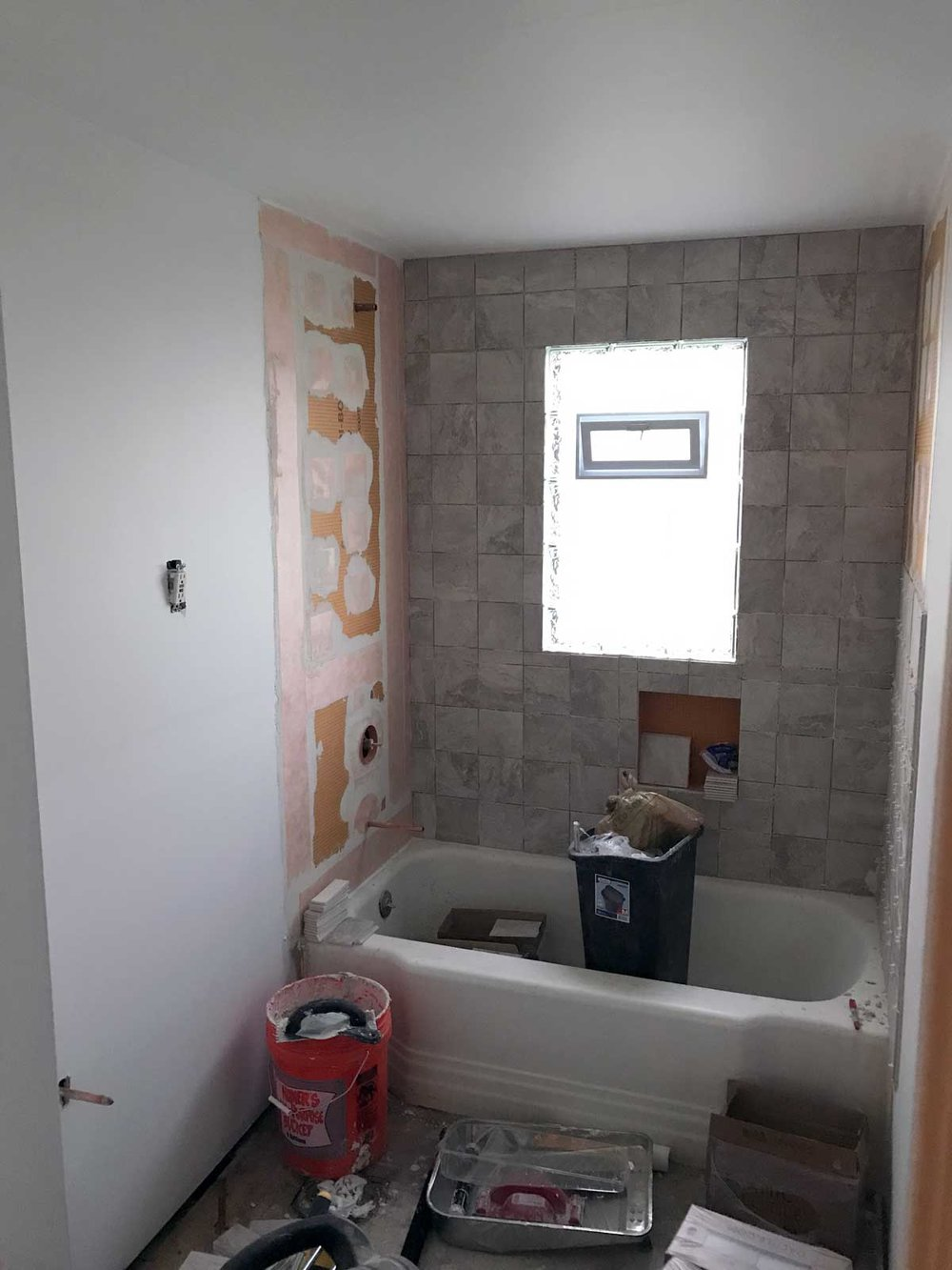 15 Day Bathroom Renovation Tiling Day 01