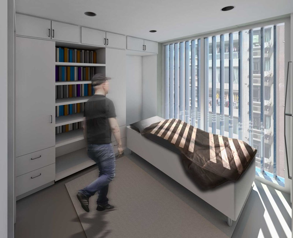 Micro Housing China Interior Perspective