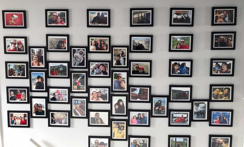 Photo Wall Completed