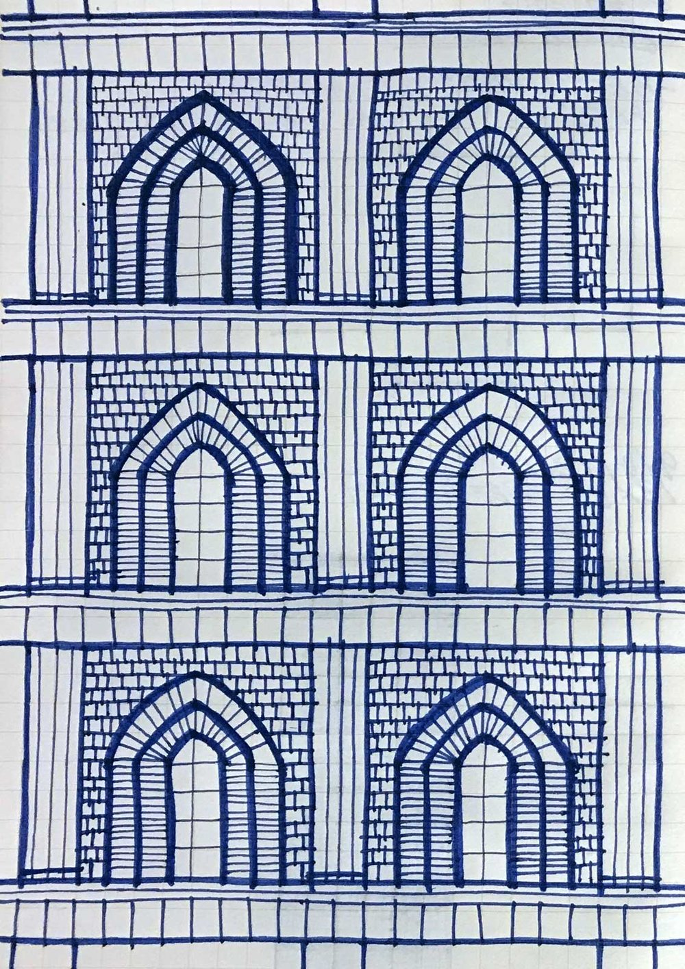 Sky Mausoleum Facade Sketch