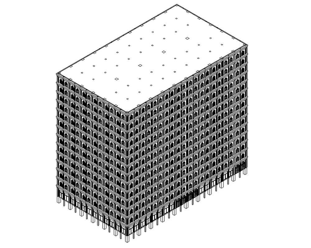 Sky Mausoleum Initial BIM Model