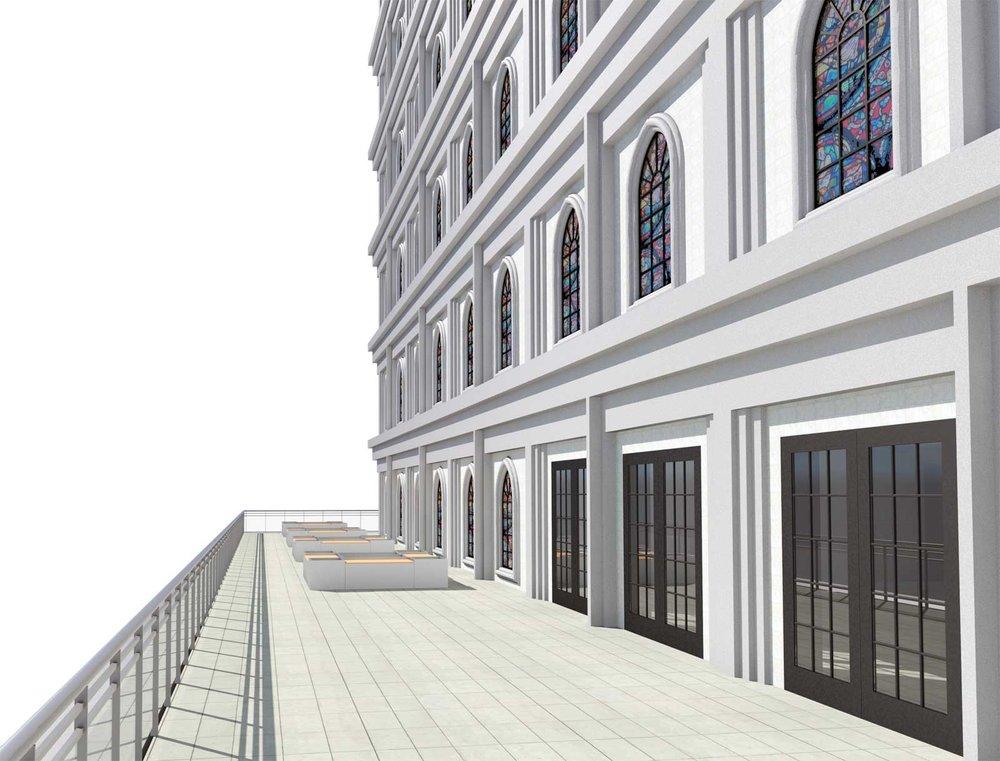 Sky Mausoleum Terrace Initial Render