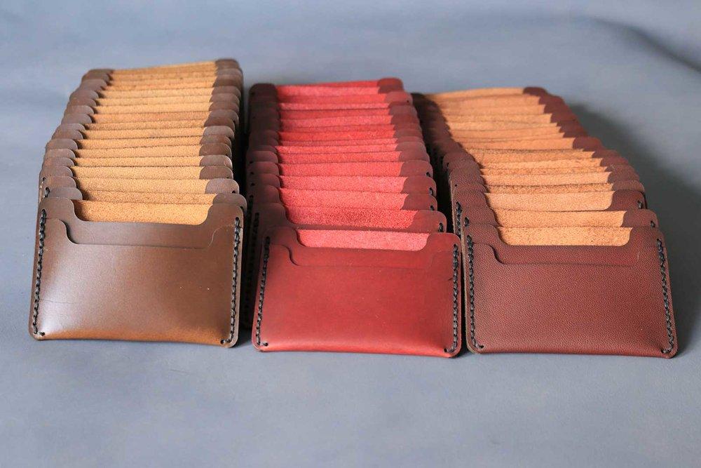 Minimal Leather Wallet Progress
